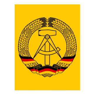 Manteau de l Allemagne de l Est des bras du joint Cartes Postales