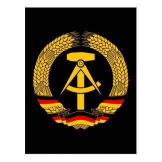 Manteau de l Allemagne de l Est des bras du joint Carte Postale