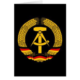Manteau de l'Allemagne de l'Est des bras/du joint  Cartes De Vœux