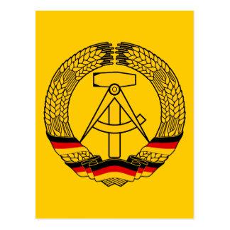 Manteau de l'Allemagne de l'Est des bras/du joint Carte Postale