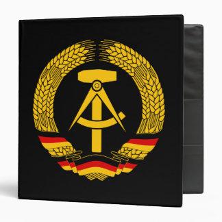 Manteau de l'Allemagne de l'Est des bras/du joint  Classeur 3 Anneaux