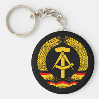 Manteau de l'Allemagne de l'Est des bras/du joint  Porte-clé Rond
