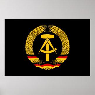 Manteau de l'Allemagne de l'Est des bras/du joint  Poster