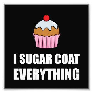 Manteau de sucre tout petit gâteau impression photo