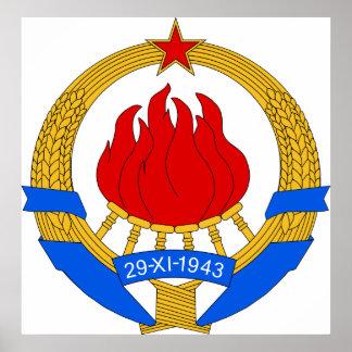 Manteau de symbnol héraldique officiel de la Yougo Affiches