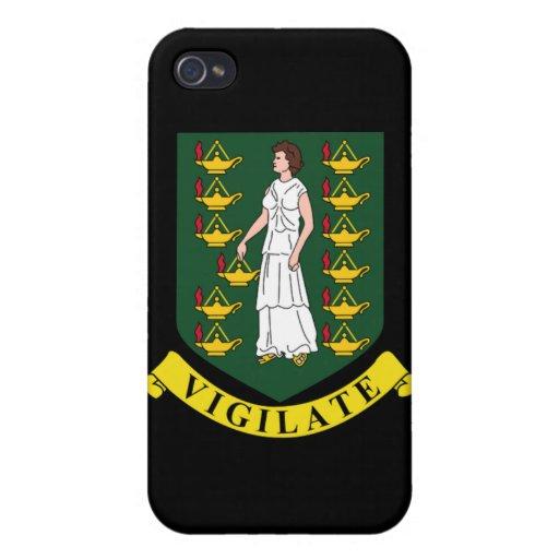 Manteau des bras des Îles Vierges britanniques Coque iPhone 4 Et 4S