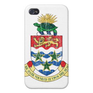 Manteau des Îles Caïman des bras Coques iPhone 4