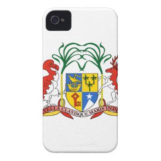 Manteau des Îles Maurice des bras Coques Case-Mate iPhone 4