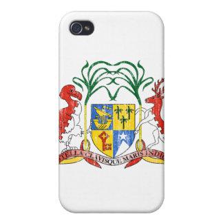 Manteau des Îles Maurice des bras Coques iPhone 4