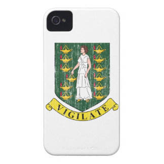 Manteau des Îles Vierges britanniques des bras Coque iPhone 4 Case-Mate
