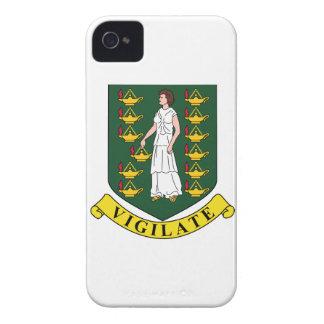 Manteau des Îles Vierges britanniques des bras Coques Case-Mate iPhone 4