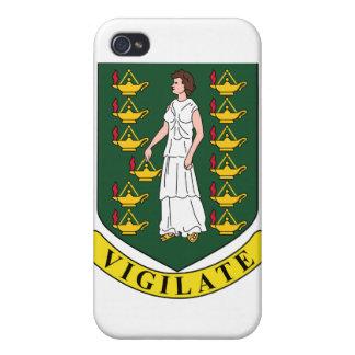 Manteau des Îles Vierges britanniques des bras Étui iPhone 4