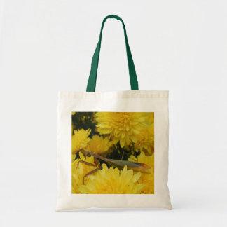 Mantis & Chrysanthemums - Budget Tote #1