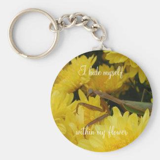 Mantis & Chrysanthemums - Keychain #1