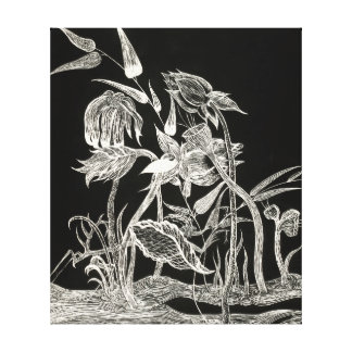 Mantis Garden canvas print