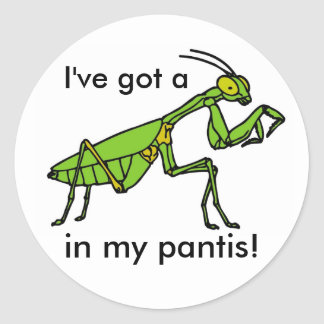 Mantis in my Pantis! Classic Round Sticker