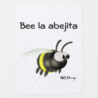 Mantita of Bee baby 1 face Baby Blanket