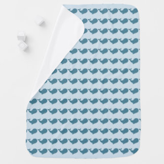 Mantita of whales baby blanket