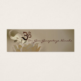 Mantra cards- Ganesh- Ganapataye Mini Business Card