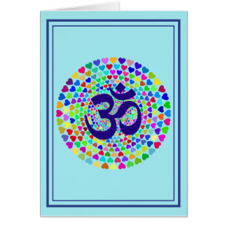 Mantra OM Yoga Greeting Card, Vertical Card