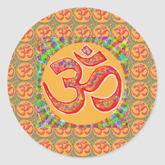 Mantra OmMantra : Perfect True Holy RobeColor Round Sticker