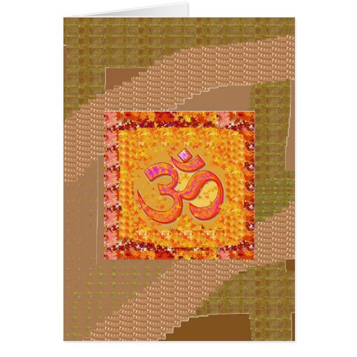 MANTRA OmMANTRA Yoga Chant Meditation GIFTS ALL Greeting Cards