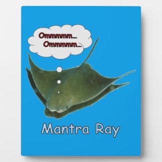 Mantra Ray Plaque