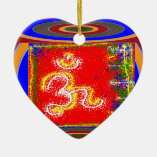 MANTRA Shakti: Passion Dedication Power Peace Ceramic Ornament