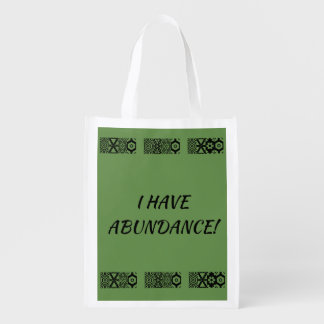 MANTRA SHOPPING BAG...ABUNDANCE REUSABLE GROCERY BAG