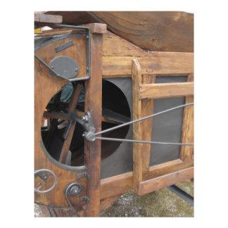 Manual machine used to shell the corn letterhead