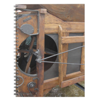 Manual machine used to shell the corn spiral notebook