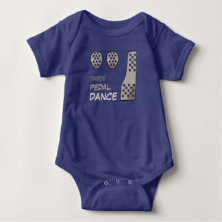 MANUAL Transmission - Three Pedal Dance Baby Bodysuit