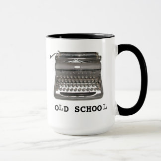 """Manual Typewriter """"Old School"""" Mug"""