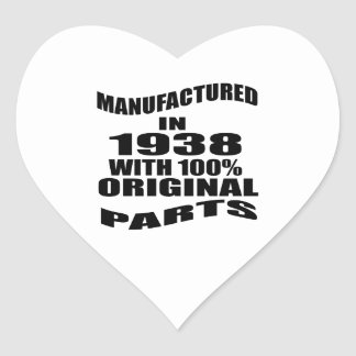 Manufactured  In 1938 With 100 % Original Parts Heart Sticker
