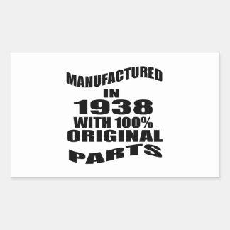 Manufactured  In 1938 With 100 % Original Parts Sticker