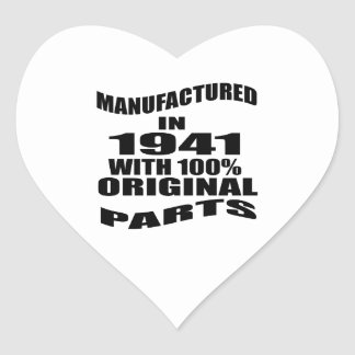 Manufactured  In 1941 With 100 % Original Parts Heart Sticker