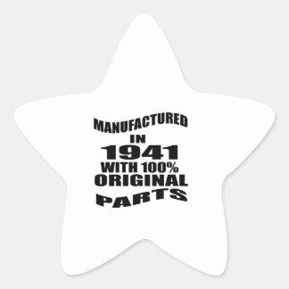 Manufactured  In 1941 With 100 % Original Parts Star Sticker
