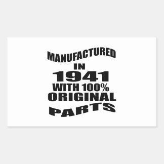 Manufactured  In 1941 With 100 % Original Parts Sticker