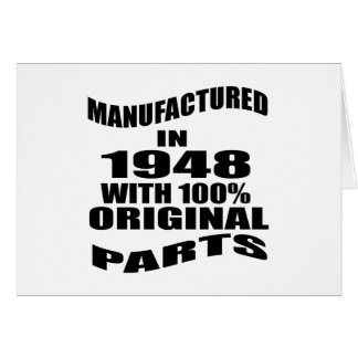 Manufactured  In 1948 With 100 % Original Parts Card