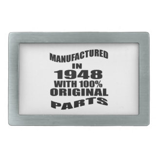 Manufactured  In 1948 With 100 % Original Parts Rectangular Belt Buckles