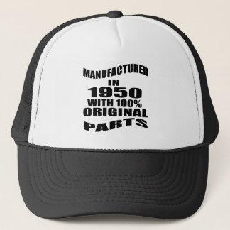 Manufactured  In 1950 With 100 % Original Parts Trucker Hat