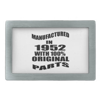 Manufactured  In 1952 With 100 % Original Parts Rectangular Belt Buckles