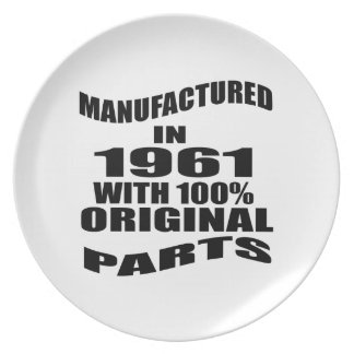 Manufactured  In 1961 With 100 % Original Parts Plate