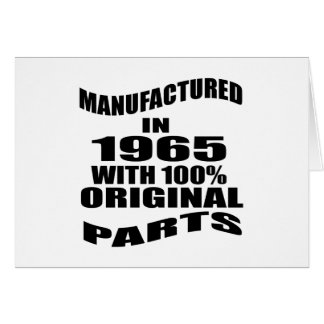Manufactured  In 1965 With 100 % Original Parts Card