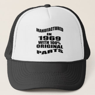 Manufactured  In 1969 With 100 % Original Parts Trucker Hat