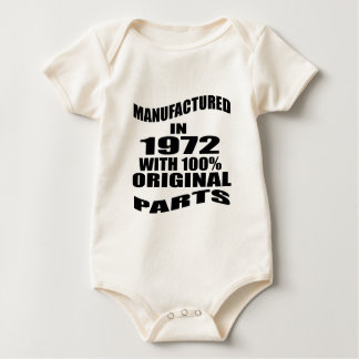 Manufactured  In 1972 With 100 % Original Parts Baby Bodysuit