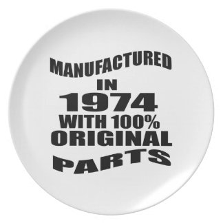 Manufactured  In 1974 With 100 % Original Parts Plate