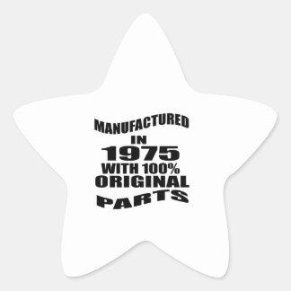 Manufactured  In 1975 With 100 % Original Parts Star Sticker