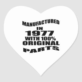 Manufactured  In 1977 With 100 % Original Parts Heart Sticker