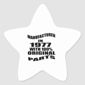 Manufactured  In 1977 With 100 % Original Parts Star Sticker